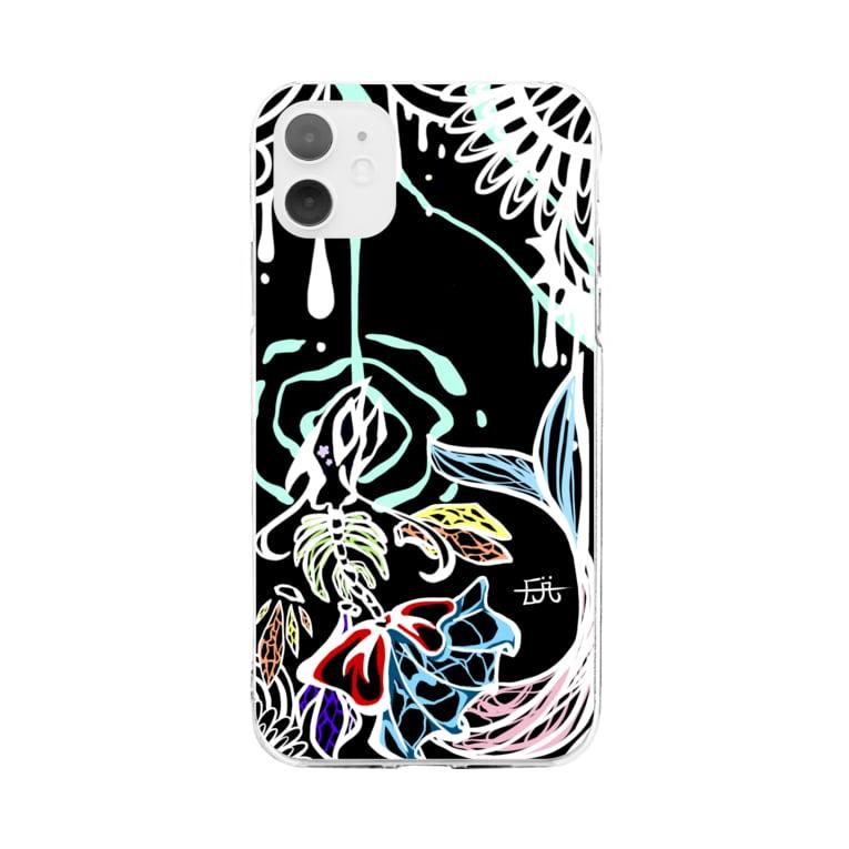 ヤギのEji( O w θ )`・出展したいの舞魚 Soft clear smartphone cases