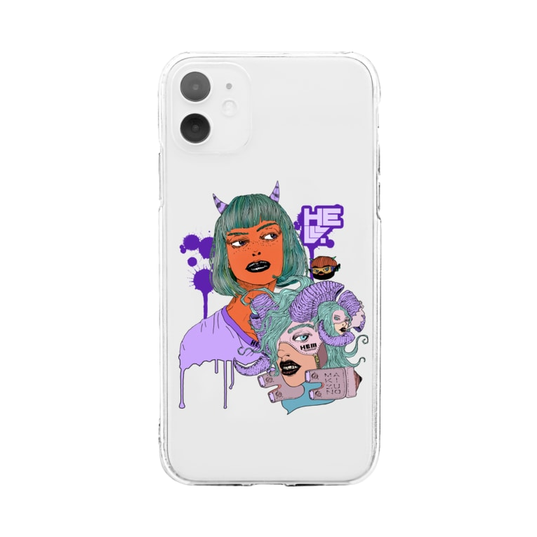 HElll - ヘル - のDevil Girl&nightmare クリアタイプ Soft clear smartphone cases