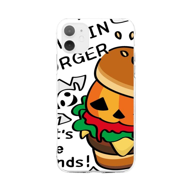 *suzuriDeMonyaa.tag*のCT14 Gz かぼちゃバーガーA Soft clear smartphone cases