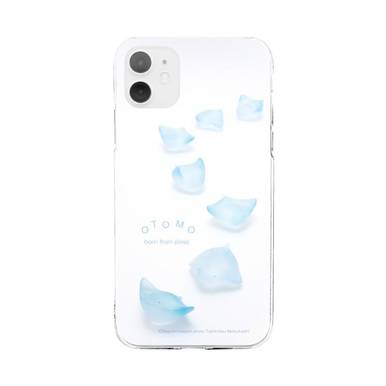 ガラスのおとものあおぞらとびえい Soft Clear Smartphone Case
