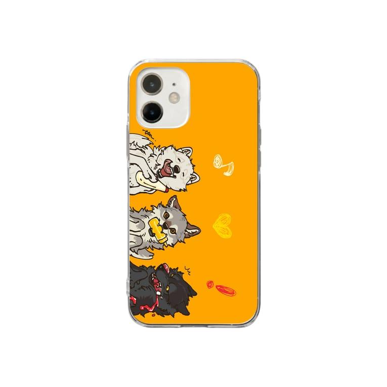 タタナ幻獣館のマヨネーズマスタードケチャップなオオカミ Soft clear smartphone cases