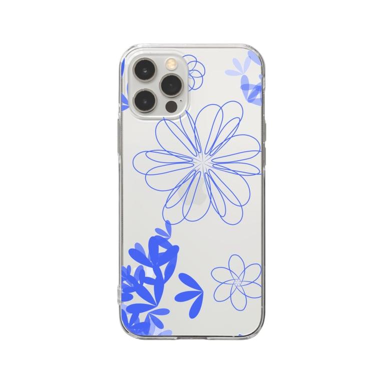 ☆☆ねこ福本舗の花  Soft clear smartphone cases