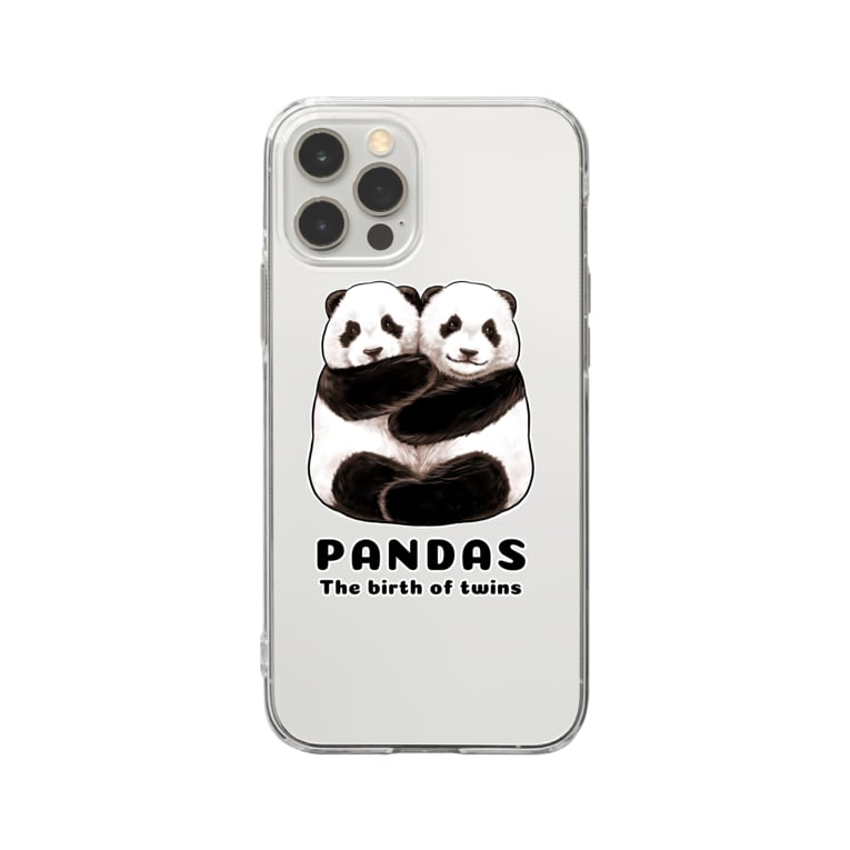 huroshikiのPANDAS【パンダonly特別版】 Soft clear smartphone cases