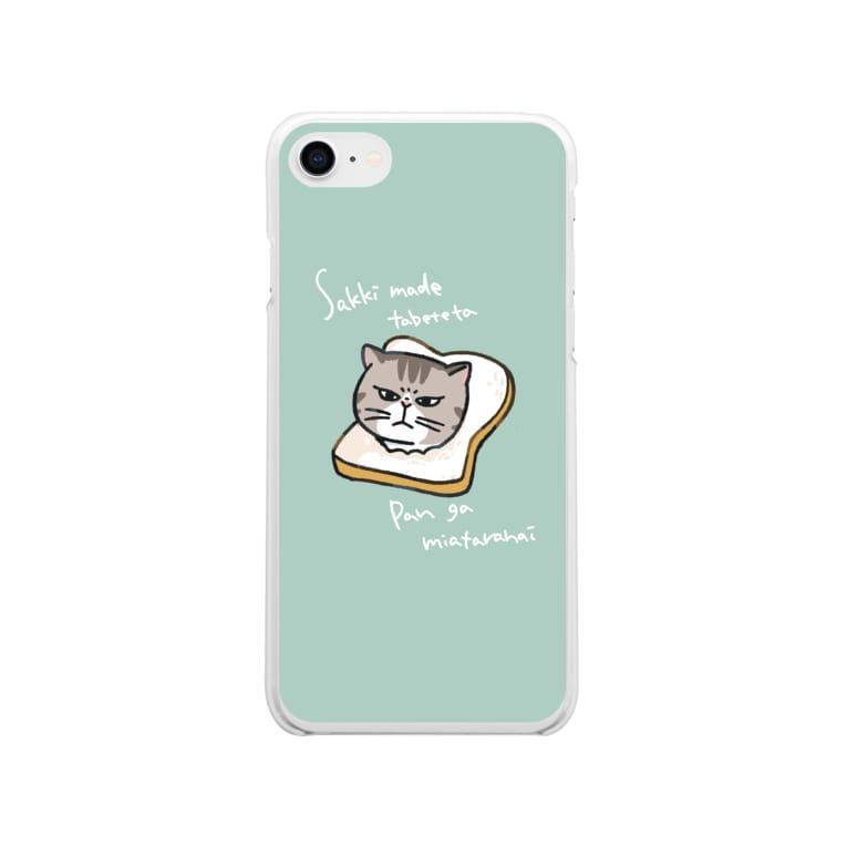 ハトヤのパン猫 Soft clear smartphone cases