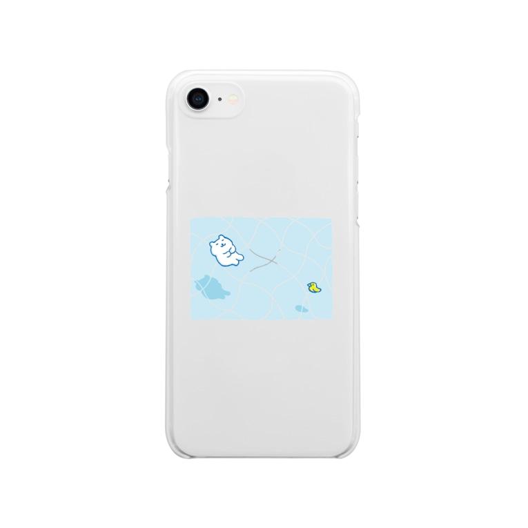 かわしまさきのおだやかプール Soft clear smartphone cases