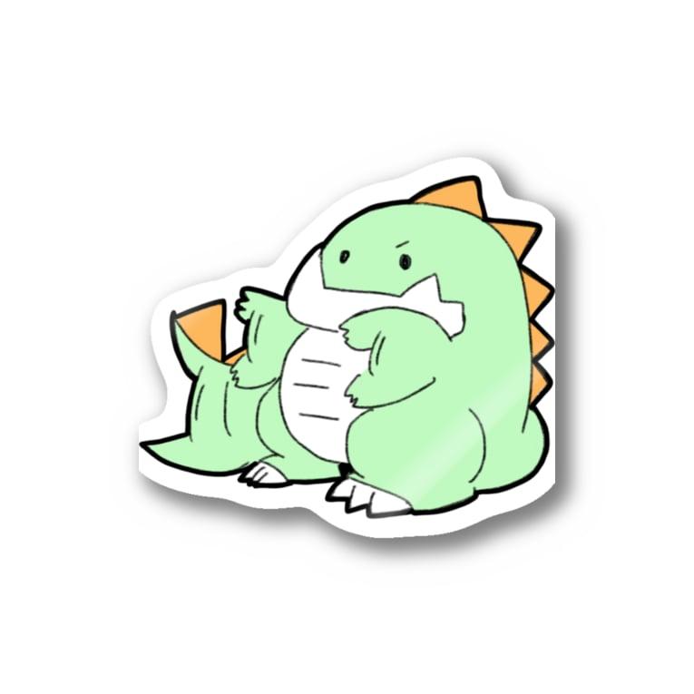 社畜ドラゴンのせかすしゃちどら Stickers