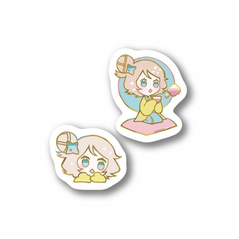 7_nanaのちどりAB Stickers