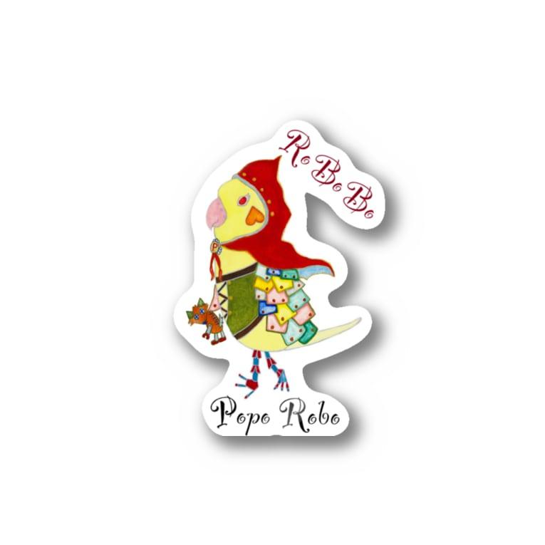 ねこぜや のROBOBO オカメインコ「ポポロボ」 Stickers