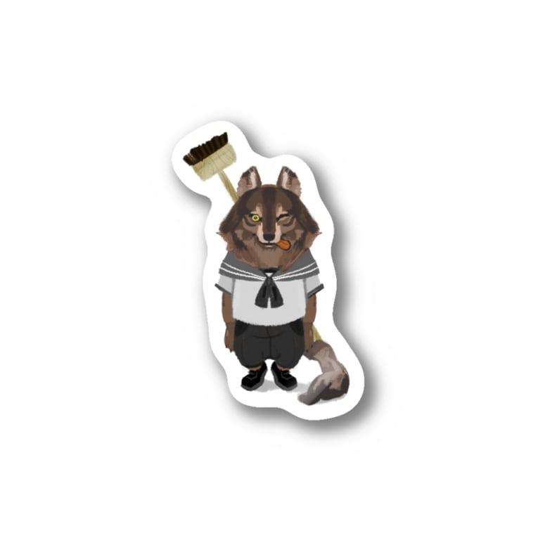 Sue visual storeの水兵さんに転職したオオカミ Stickers