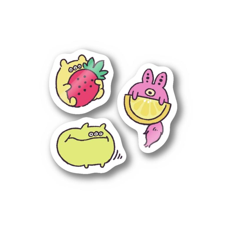 真夜中のフルーツおいし〜 Stickers