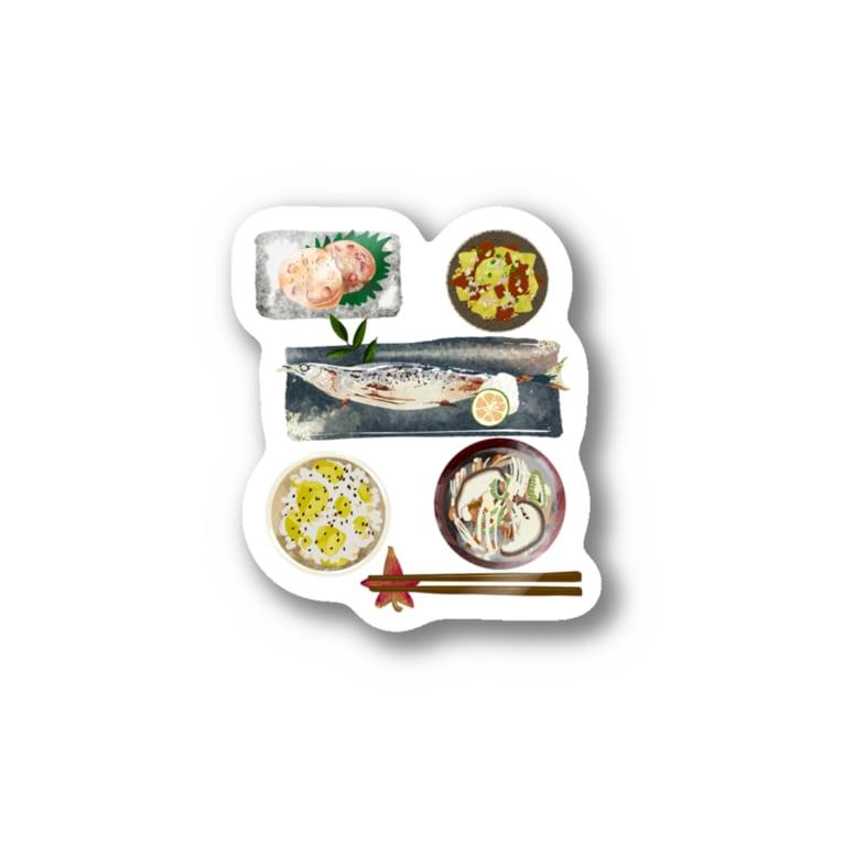 nicoeの店の秋定食 Stickers