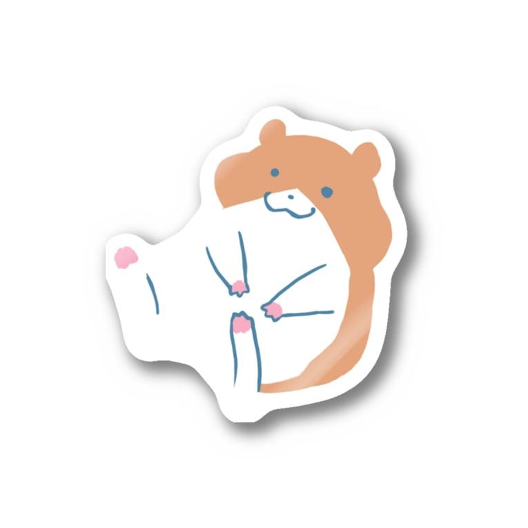 kurun's petit factory By 星咲まゆのぽてっとゆるかわハムスター Stickers
