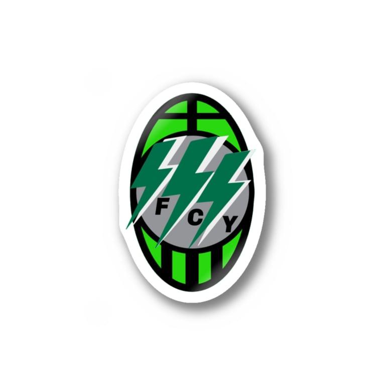 yujisaltのお店のサッカーのロゴオマージュ Stickers