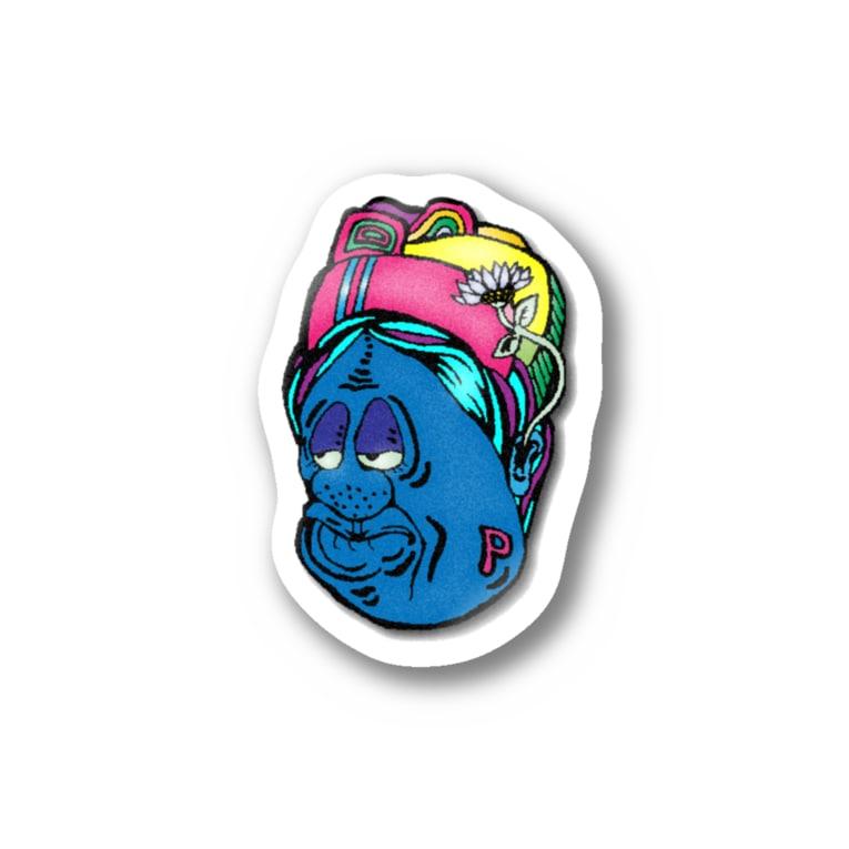 hiromashiiiのblue Stickers