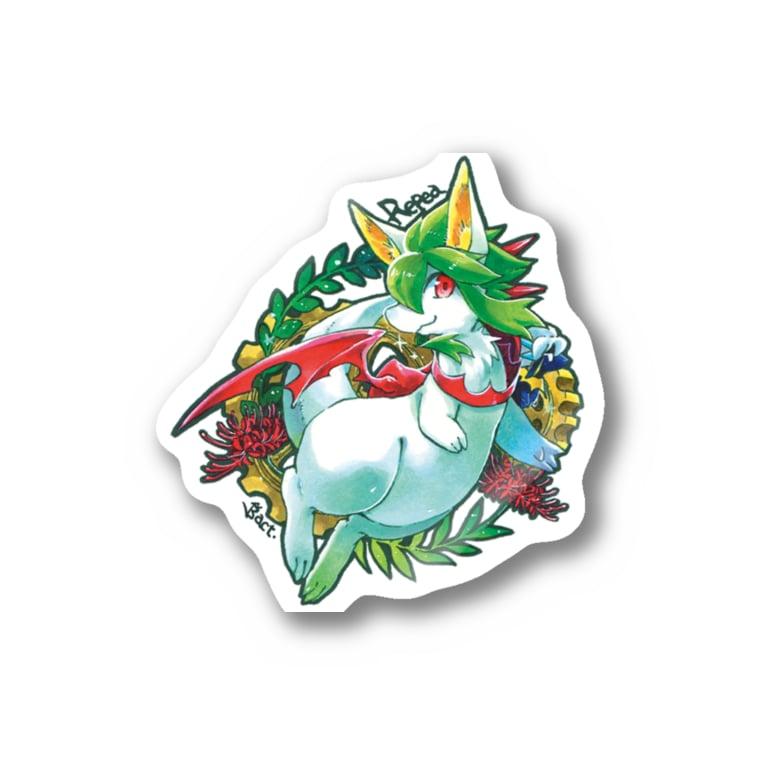 BARE FEET/猫田博人のリペア・ステッカー Stickers
