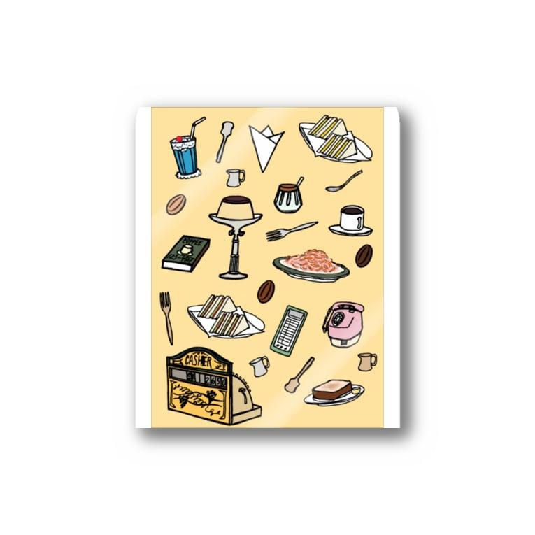 気ままに創作 よろず堂の純喫茶 いろどり 背景つき Stickers