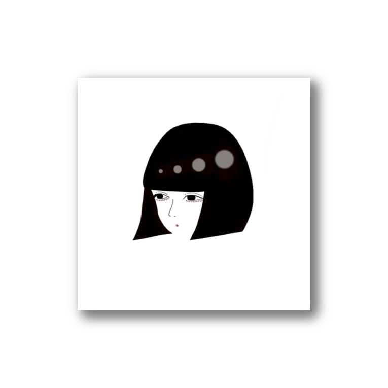 n y a n k o r oの黒髪ボブのオンナノコ Stickers