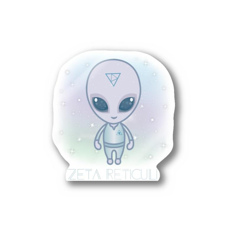 alpacca-creativeのZeta Reticuli(ゼータ・レチクル星人) Stickers