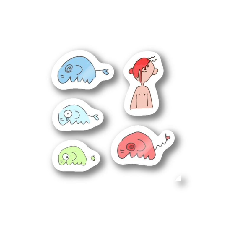 zouのシール詰め合わセット(ホ) Stickers