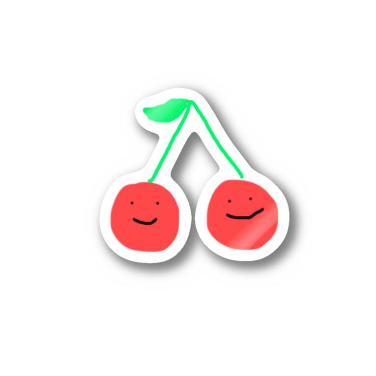 なっさんぬのさくらんぼちん Stickers