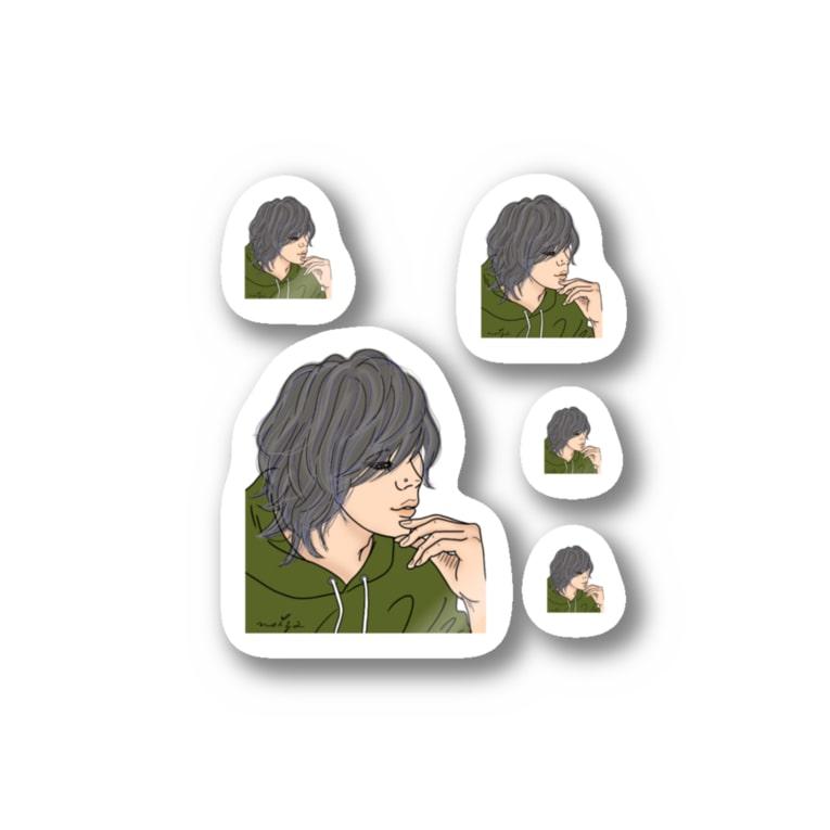 M✧Lovelo(エム・ラヴロ)の意外とまつ毛長いンだね♪ Stickers