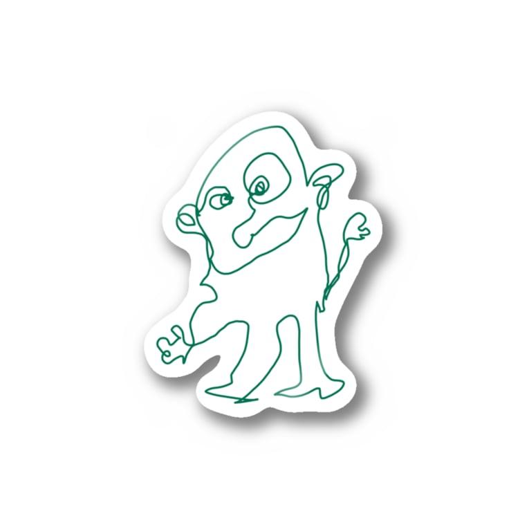 Kahoの宇宙人A氏 Stickers