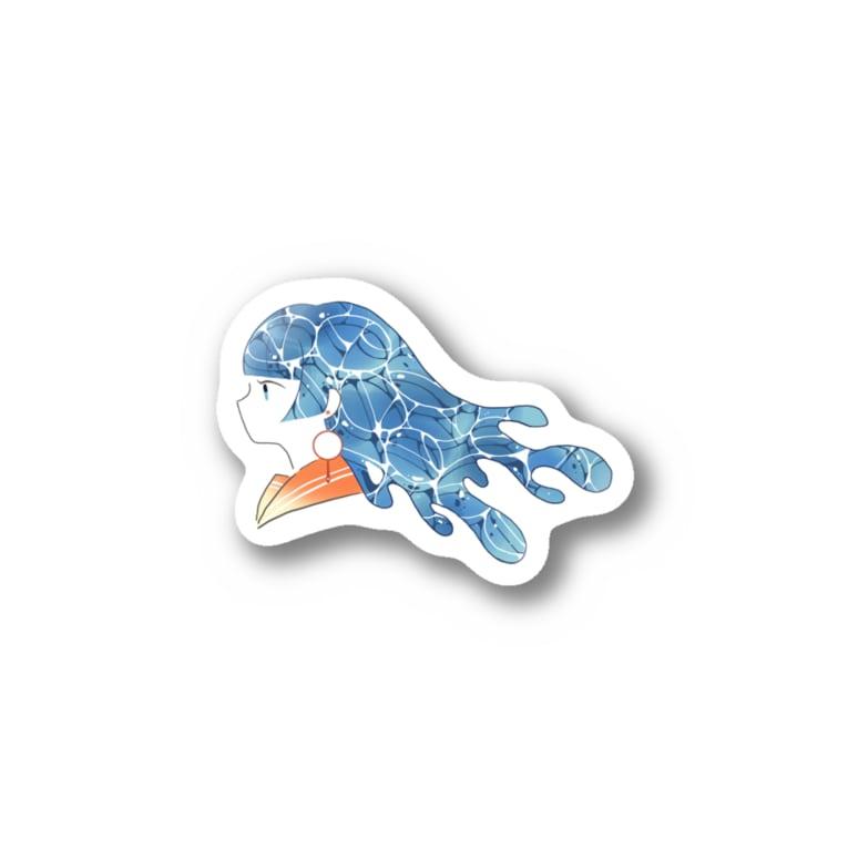 ARIOの夏の少女 Stickers