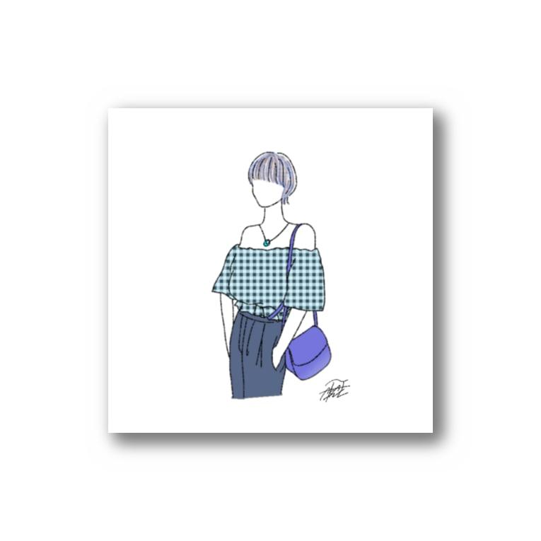 akane-artの夏の青色カラー。 Sticker