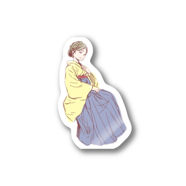 🧙♀️和田 一凛(わだ いちか)🧙♀️のかみさまのすがた〜ラフ〜 Stickers