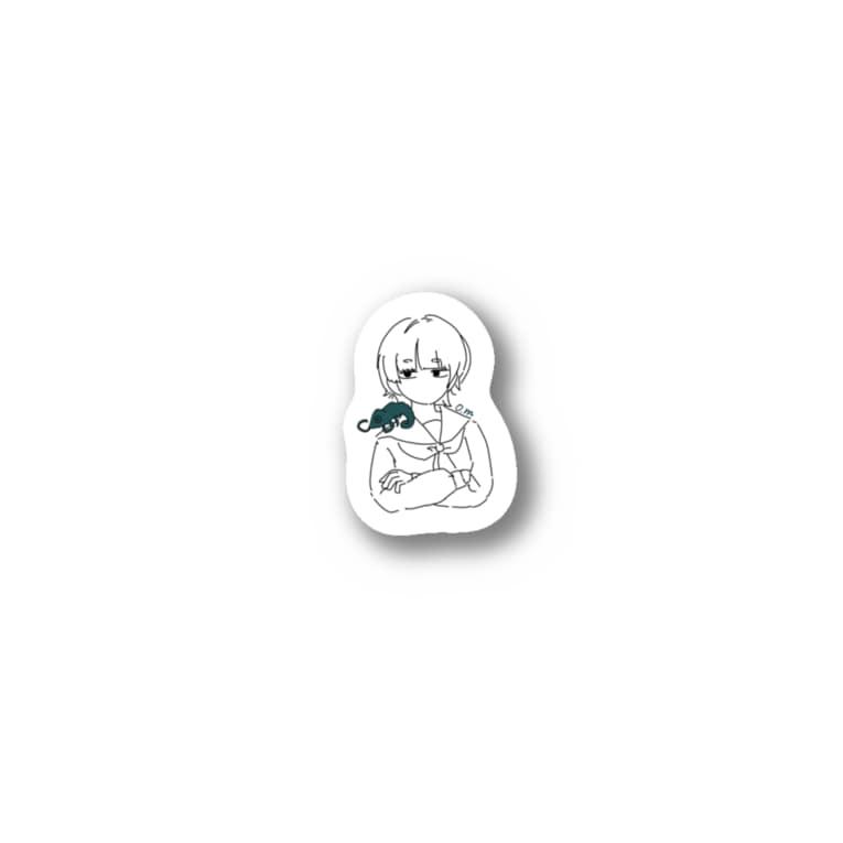 gohan_chan_のカメレオン Stickers