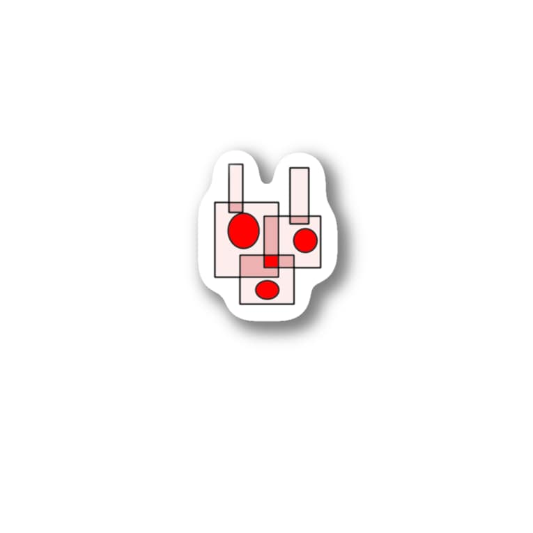 popokoroのカクカクウサギ Stickers