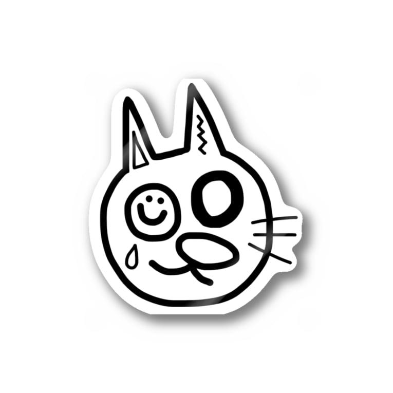 hinnaのmeow 猫 ネコ cat cute  Stickers