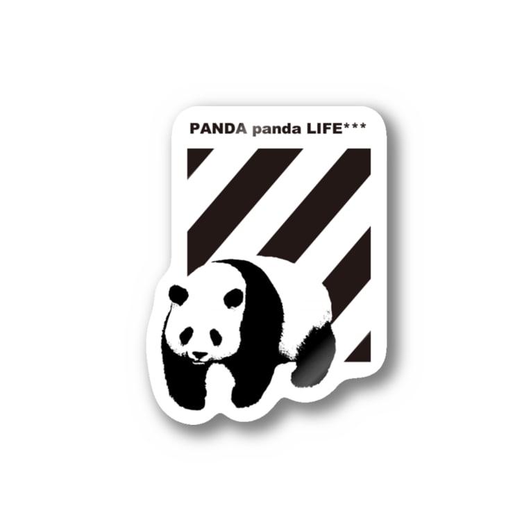 PANDA panda LIFE***の飛び出すパンダ ストライプ Stickers