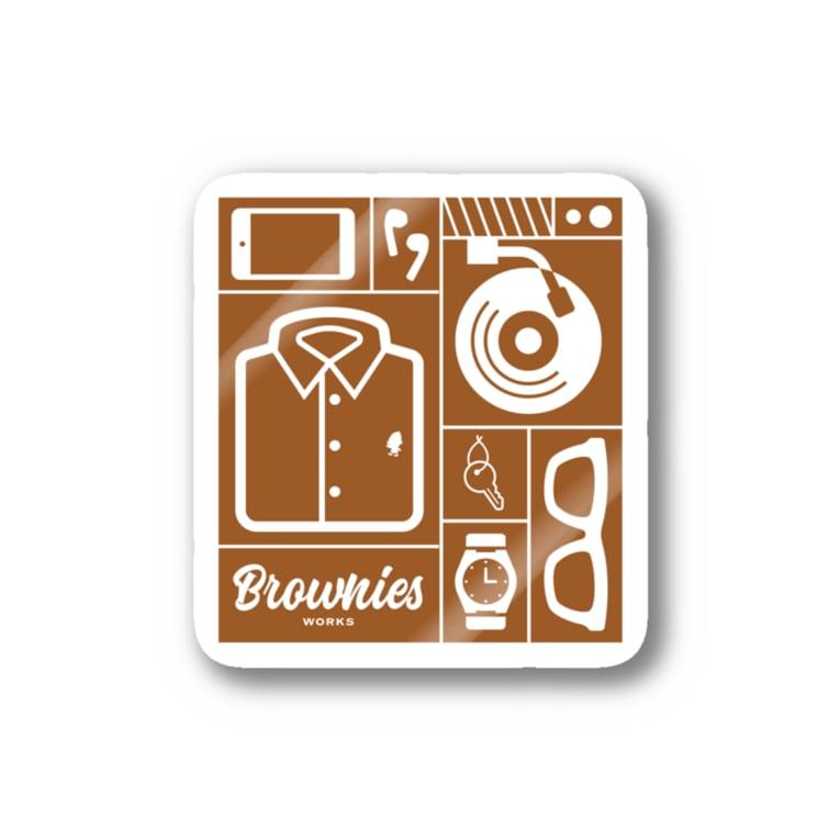 Brownies Works ShopのBrownies Works引き出し Stickers