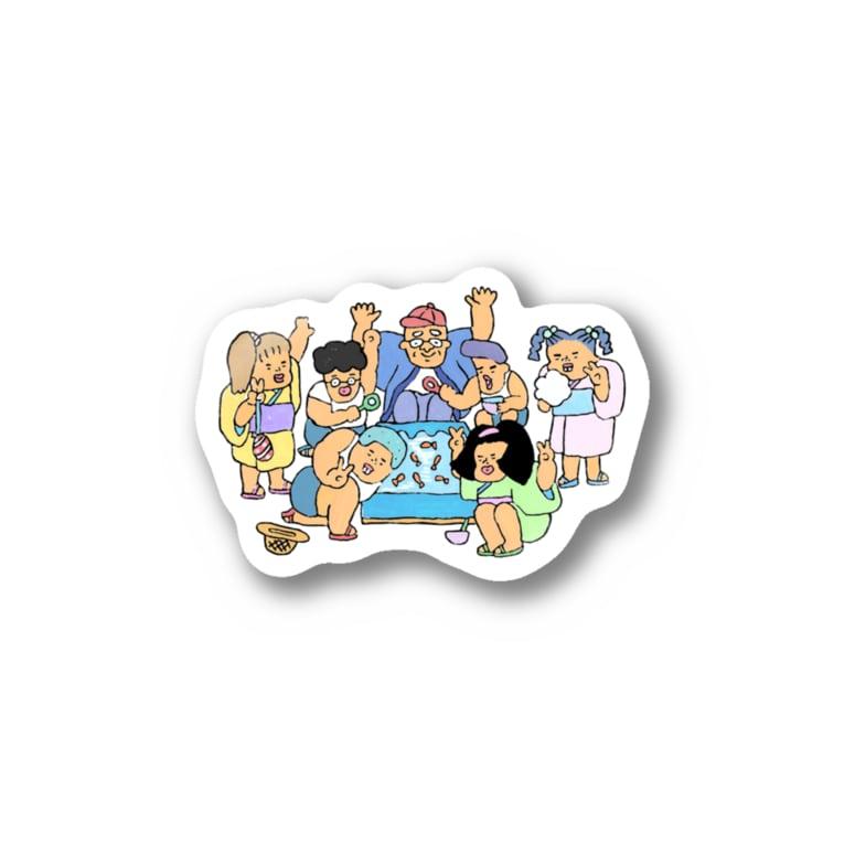 にか店の夏祭り Stickers