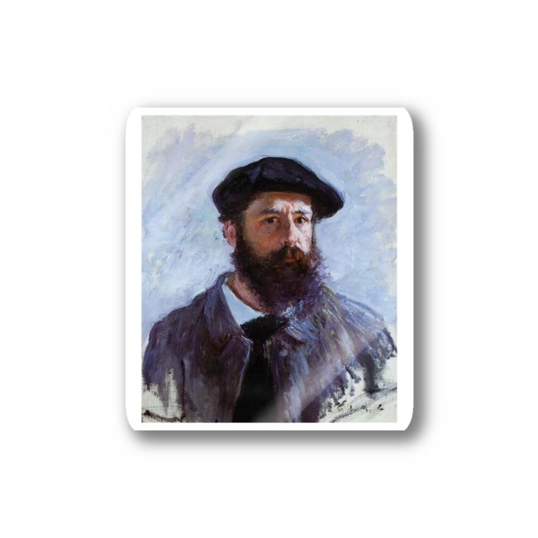 Art Baseのクロード・モネ / 1886 / Self-Portrait with a Beret / Claude Monet Stickers