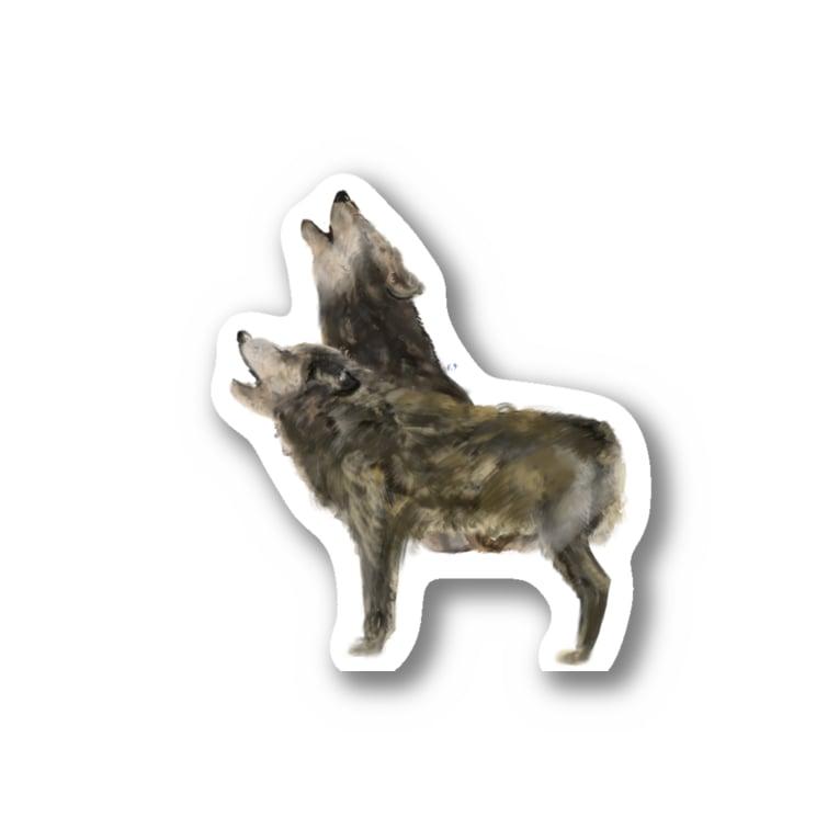 スマホdeイラストレーター・古川 セイのオオカミ Stickers
