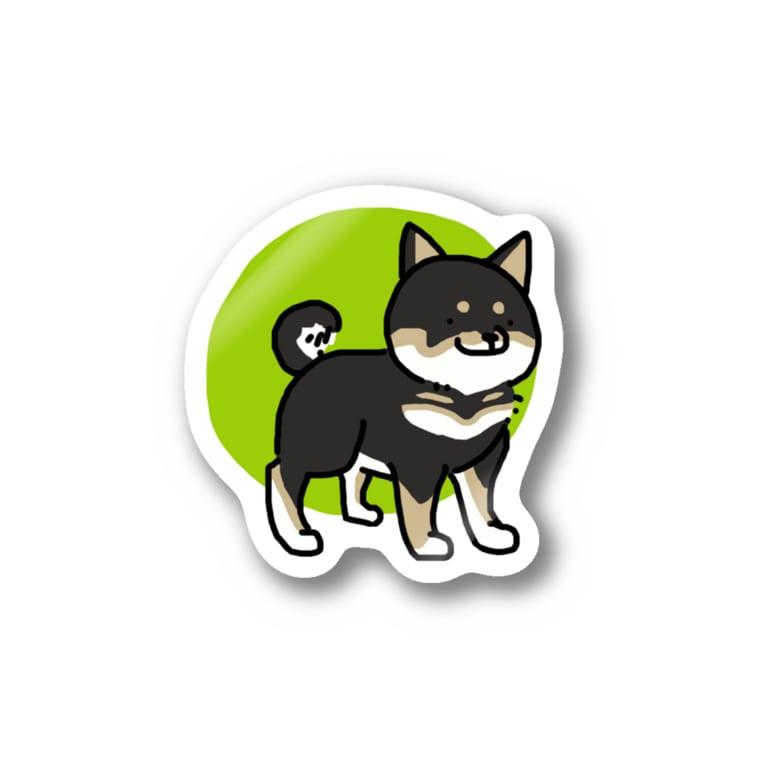 ゆるあにまるのしばいぬ(黒) Stickers