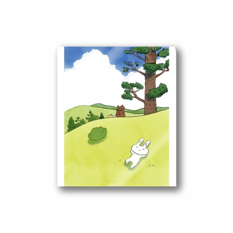 うさぎのラビーのお店のひなたぼっこ Stickers