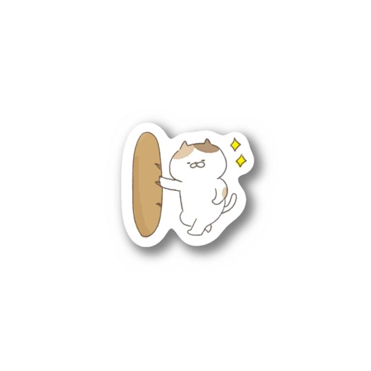 おからドーナツのアトリエの【色々にゃんことバゲット】ステッカー Stickers