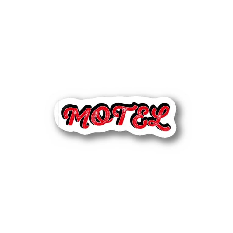 yanayadeのショップのモーテルさん Stickers