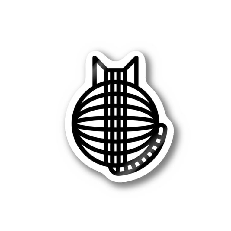 SHOP W SUZURI店の猫の丸い背中 ステッカー Stickers