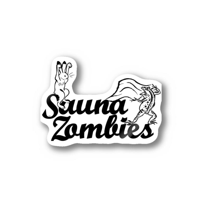 SAUNA ZOMBIESのSAUNA ZOMBIES -アウフギーガ ステッカーA - Stickers