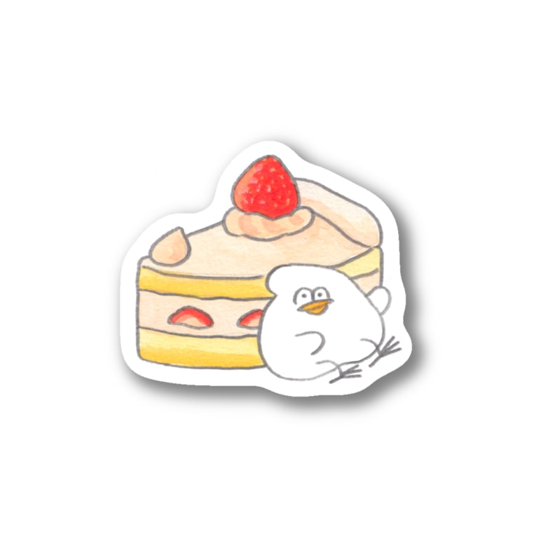 mugny shopのショートケーキ Sticker
