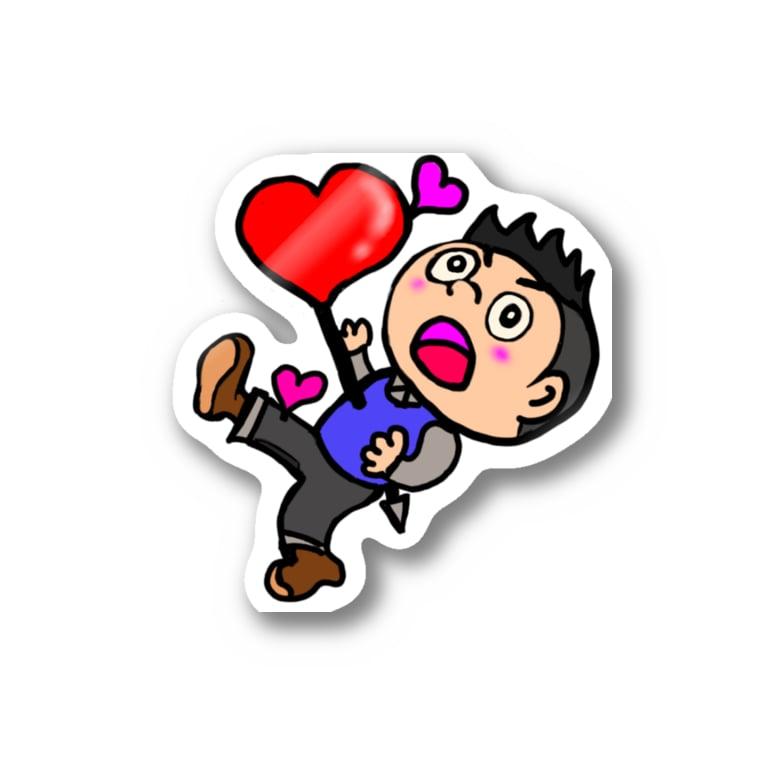 TOMMY★☆ZAWA ILLUSTRATIONのひとめぼれ LOVE at first sight Sticker