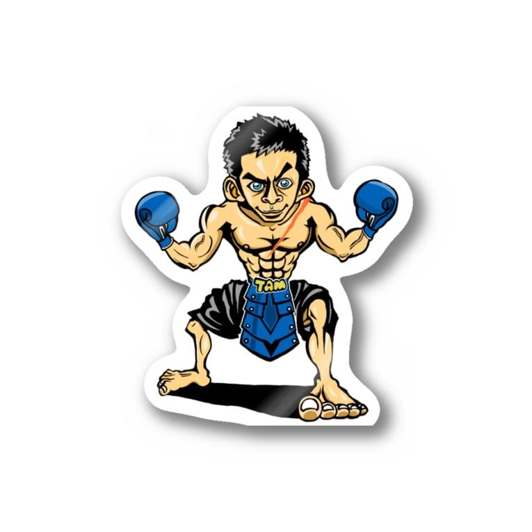 ASB boxingclub SHOPの ASBスタッフ「タムタム」アイテム  Stickers