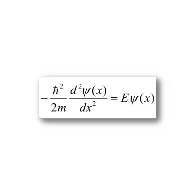FCLBRの1次元の時間を含まないシュレディンガー方程式 Stickers