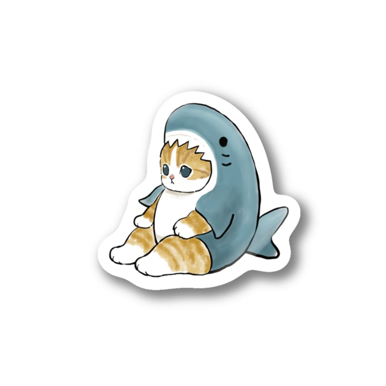 mofusandのサメにゃん Stickers