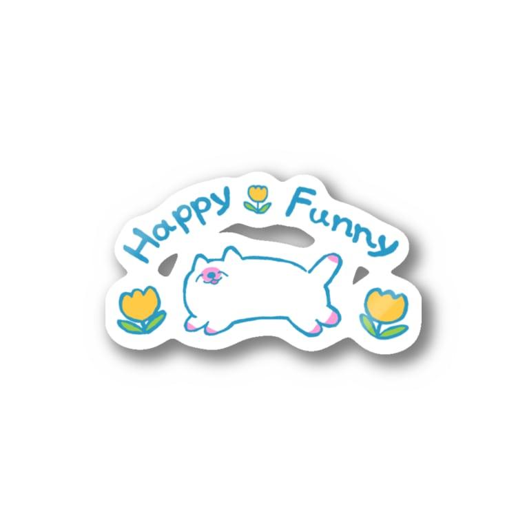 本調子のHappyFunnyねこちゃん Stickers