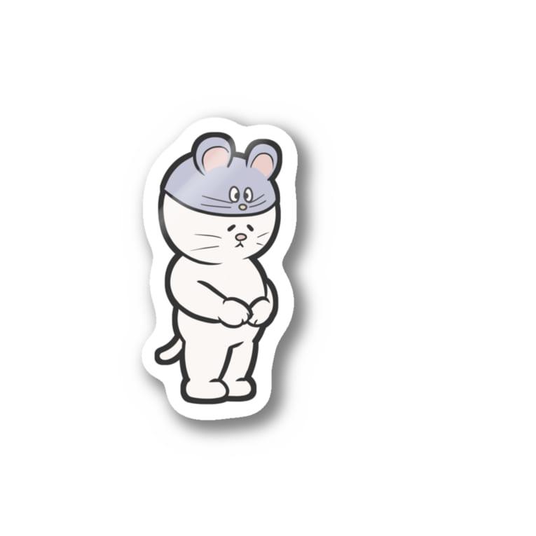 スリープキャットスタジオのだめねこステッカー(ねずみ) Sticker